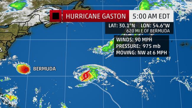 Hurricane Gaston Reforms, Moves Northwest in the Atlantic
