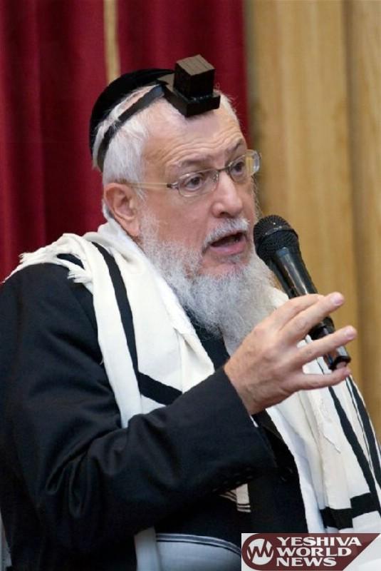 BD'E: Former Chief Rabbi Of France HaGaon HaRav Yosef Chaim Sitruk ZATZAL