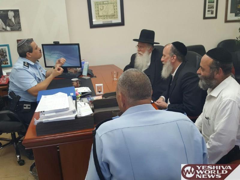 PHOTOS: Police Commissioner Alsheich Discusses Tishrei Preparedness