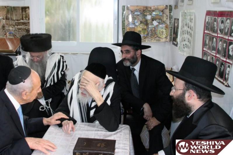 VIDEO: Peres Visted Maran Hagaon HaRav Elyashiv On Sukkos And Was Told It's Forbidden To Ascend Har HaBayis