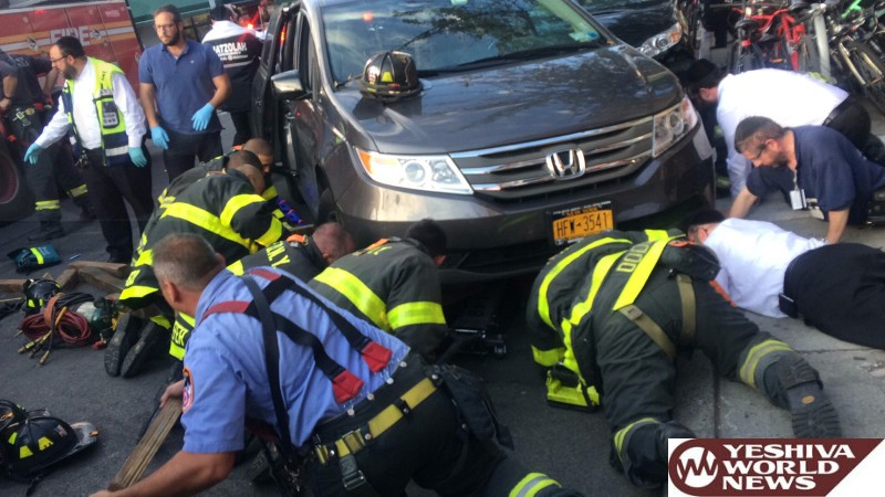 PHOTO: Child Struck And Pinned Under Vehicle On 13 Ave