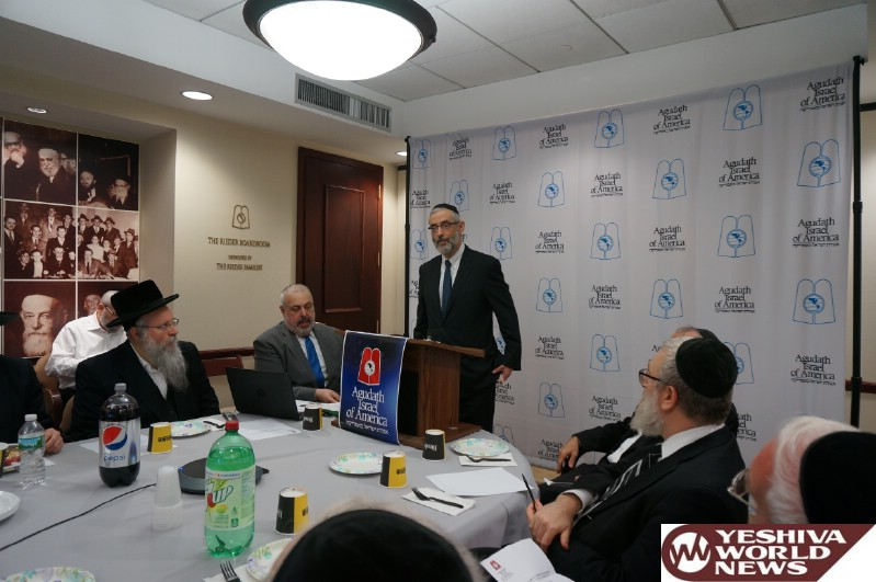 PHOTOS: Security for Yomim Noraim the Focus at High-Level Agudath Israel Shul Branch Meeting