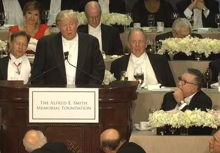 Trump, Clinton Trade Barbs At Alfred E. Smith Dinner As Roast Turns Bitter