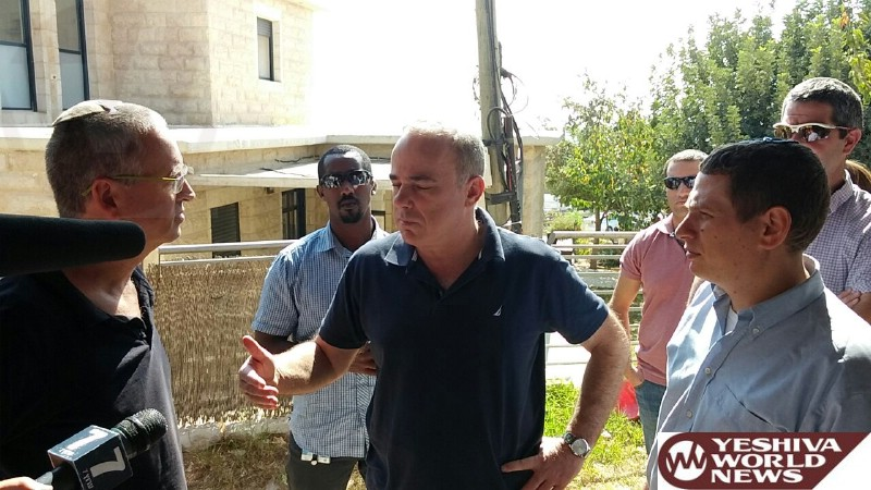 PHOTOS: Minister Steinitz Seeking To Prevent The Destruction Of Additional Jewish Homes