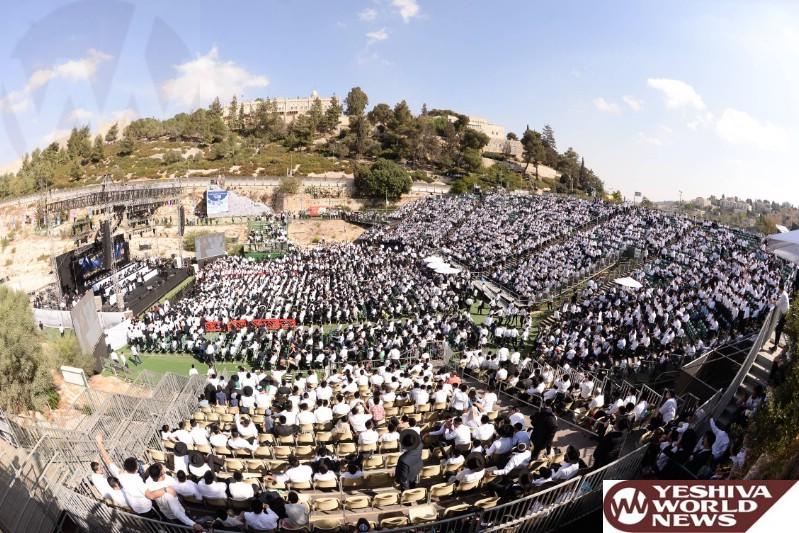 Photo Essay: Thousands Attend Shas Event On Chol Hamoed Sukkos 5777 (Photos by JDN)