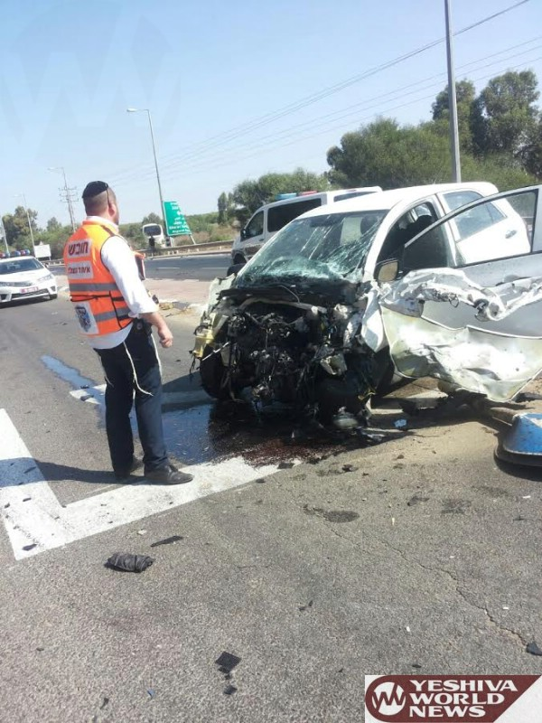 PHOTOS: Israel: 20 Injured In MVA Between A Bus And Private Vehicle