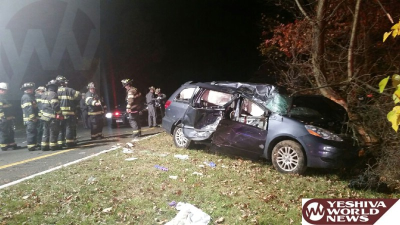 TEHILLIM - Serious Crash On Palisades Parkway Near Monsey - 2 Victims In Critical Condition