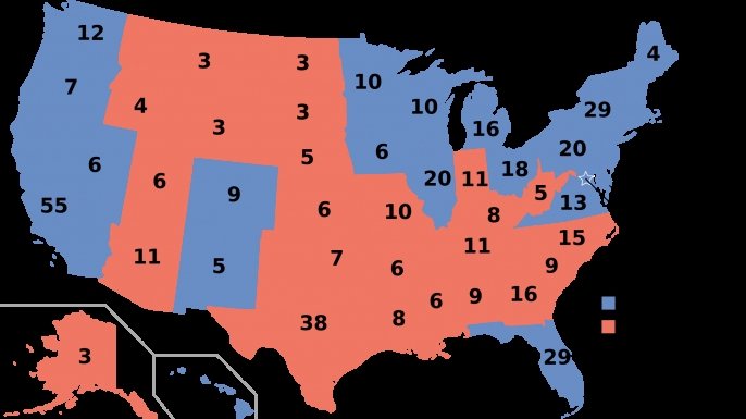 Q And A Electors Almost Always Follow The Vote In Their State - Map of us for prezident vote