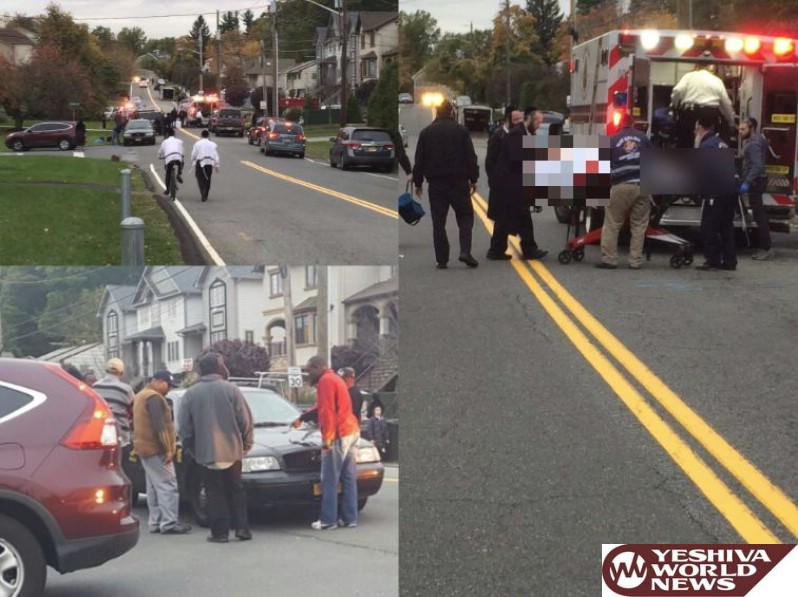 TEHILLIM - Child In Serious Conditon After Struck By Taxi In Monsey