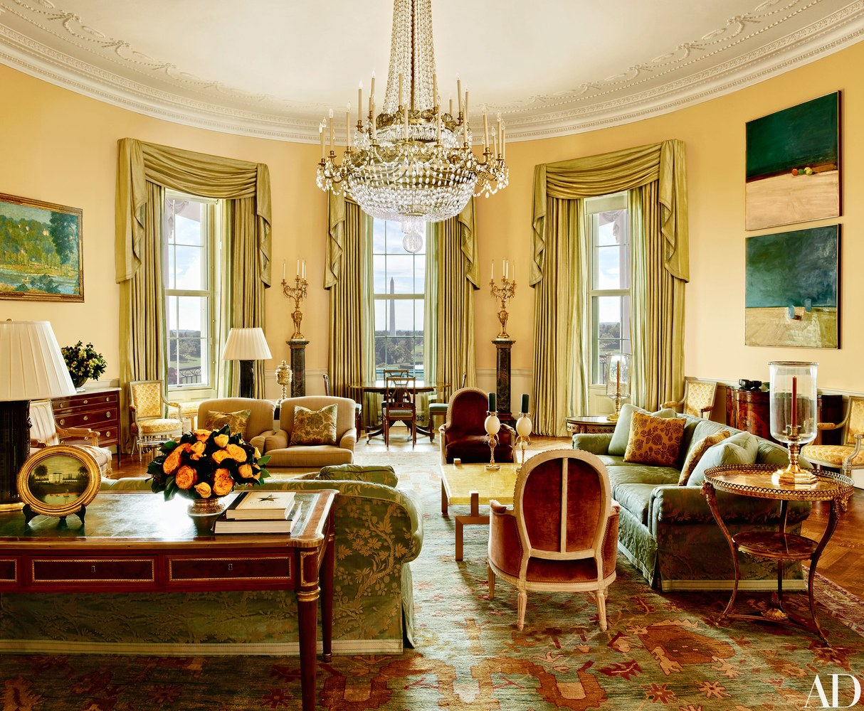 Photos obama reveals private living areas of white house for The white housse