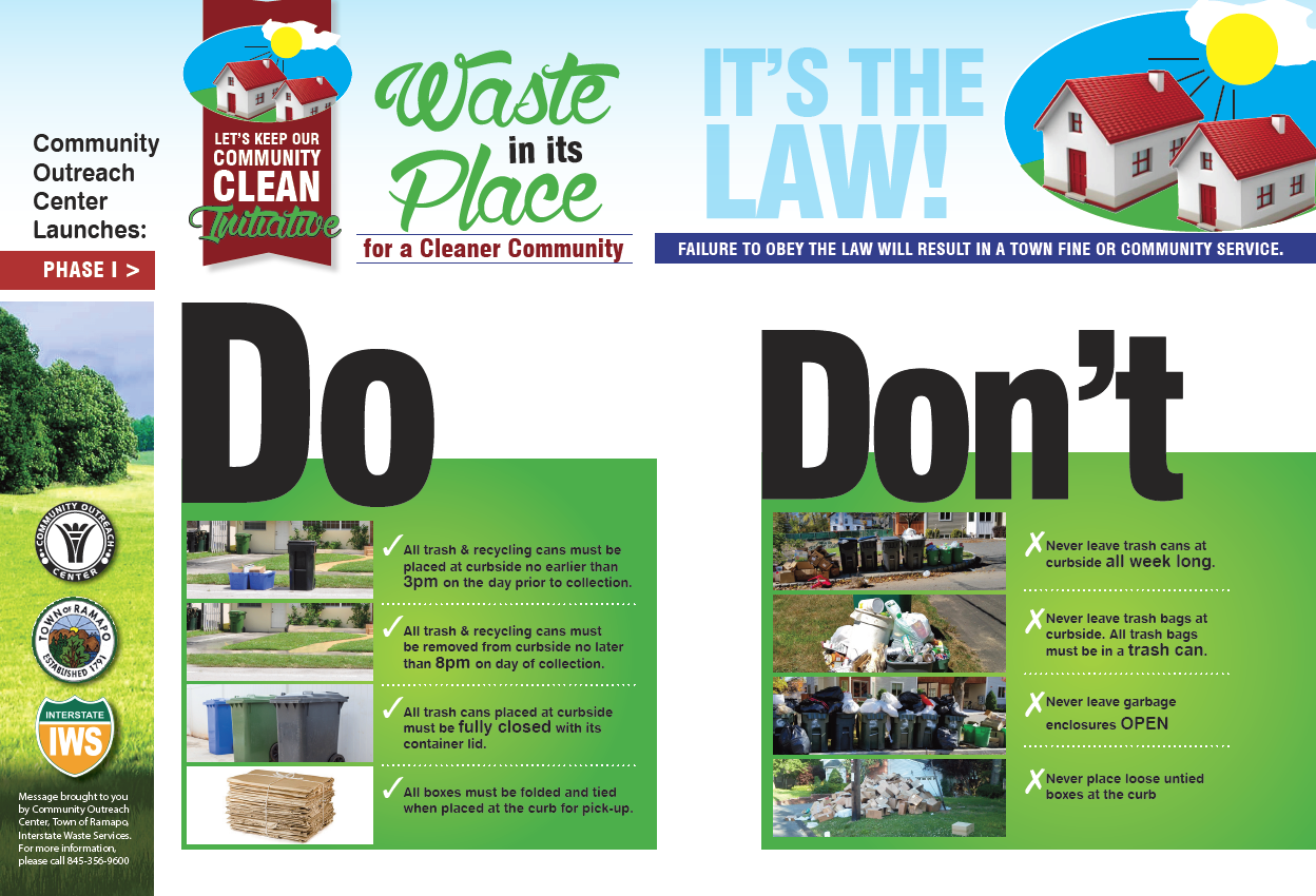Kiddush Hashem: Community Outreach Center Launces 'Keep our Community Clean' Initiative for Monsey Residents
