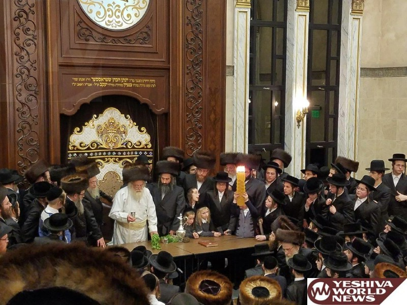 Photo Essay: The Toldos Ahron Rebbe By Havdalah This Past Motzei Shabbos In Lakewood (Photos by Dunoff Photos - JDN)