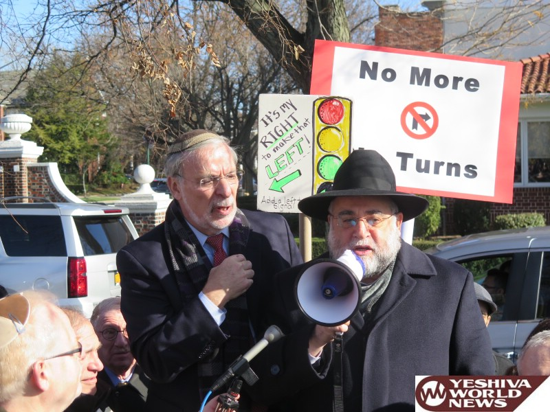 VIDEO AND PHOTOS: Hikind Joined by Hundreds of Outraged Community Members at 'Save Ocean Parkway' Rally