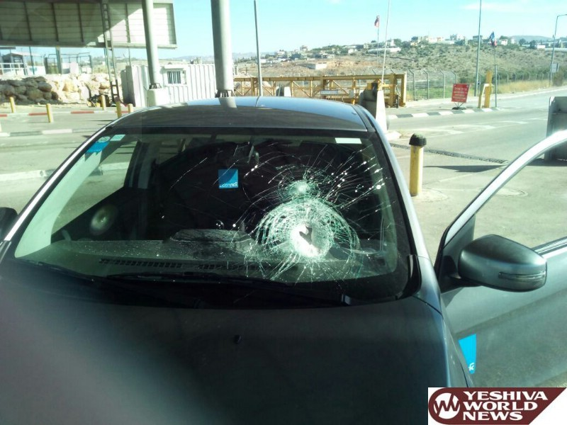 Driver Lightly Injured In A Shomron Rock-Throwing Attack