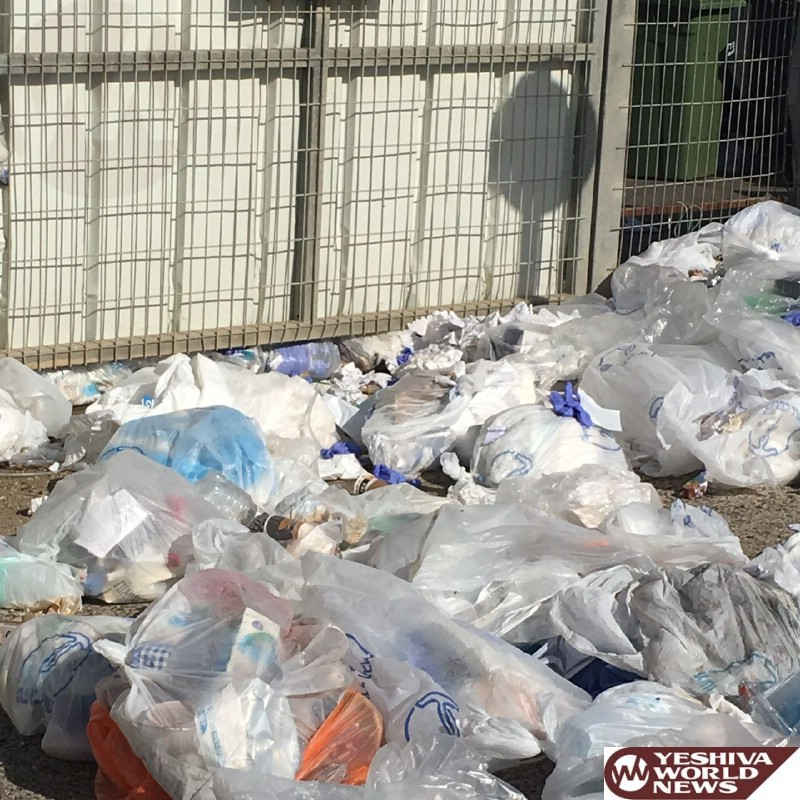 PHOTOS: Garbage Continues To Pile Up At Galil Hospital In Nahariya
