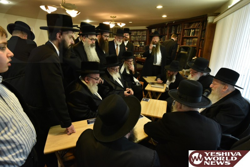 Photo Essay: The Skver Rebbe Being Manchem Avel The Lakewood Mashgiach, Hagaon RaRav Matisyahu Solomon (Photos by Yakov Leitner - JDN)