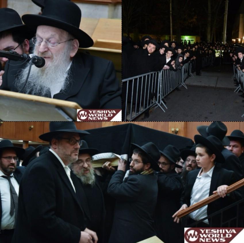 Photo Essay: Thousands Attend Levaya Of Rebbizten Miriam Soloman A'H In Lakewood's BMG (Photos By Yakov Leitner - JDN)