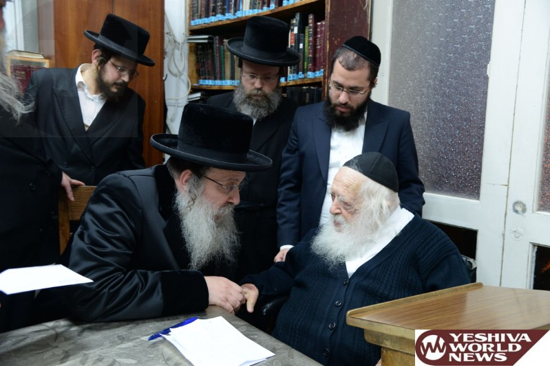 Photo Essay: Nadvorna Rebbe Visiting Hagaon HaRav Chaim Kanievsky (Photos by JDN)