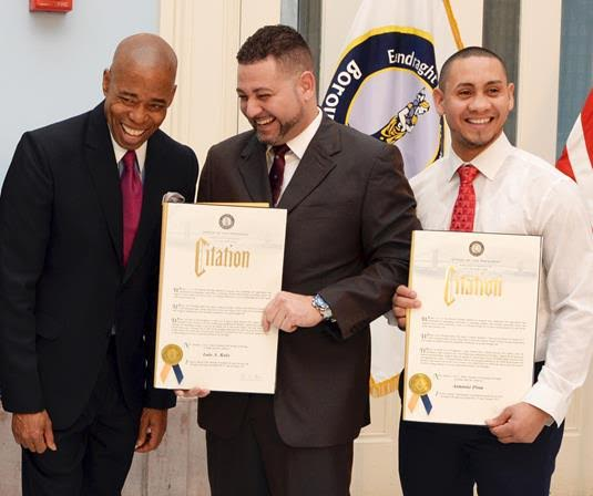 Brooklyn Boro President Adams Honors 'Heros Of The Month' Which Included Two Incidents Where Orthodox Jews Were Helped