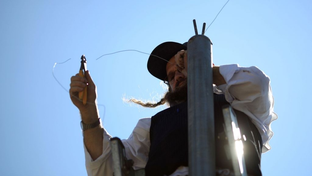 Beit Shemesh Eruv Poles Destroyed