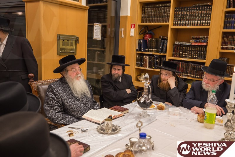 Photo Essay: Sanz Zmigrad Rebbe At The Yartzeit Seudah Of His Father (Photos by JDN)