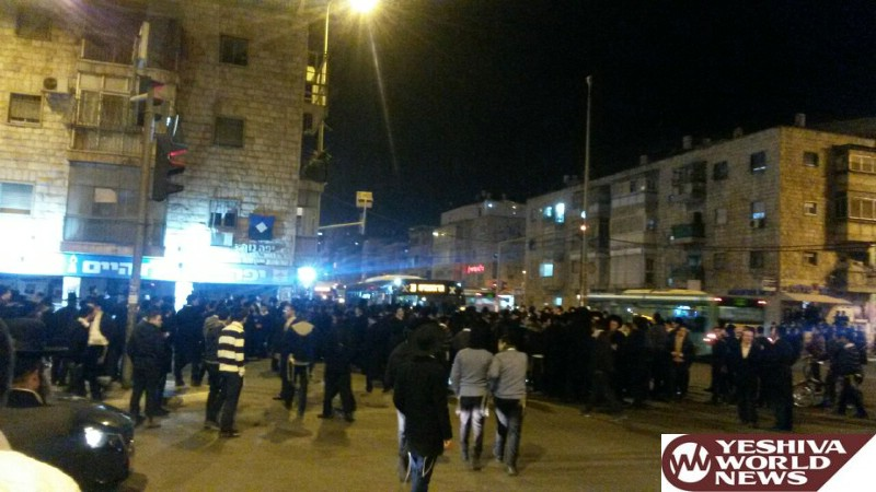 PHOTOS: Violent Chareidi Protests Continue In Yerushalayim Throughout The Night