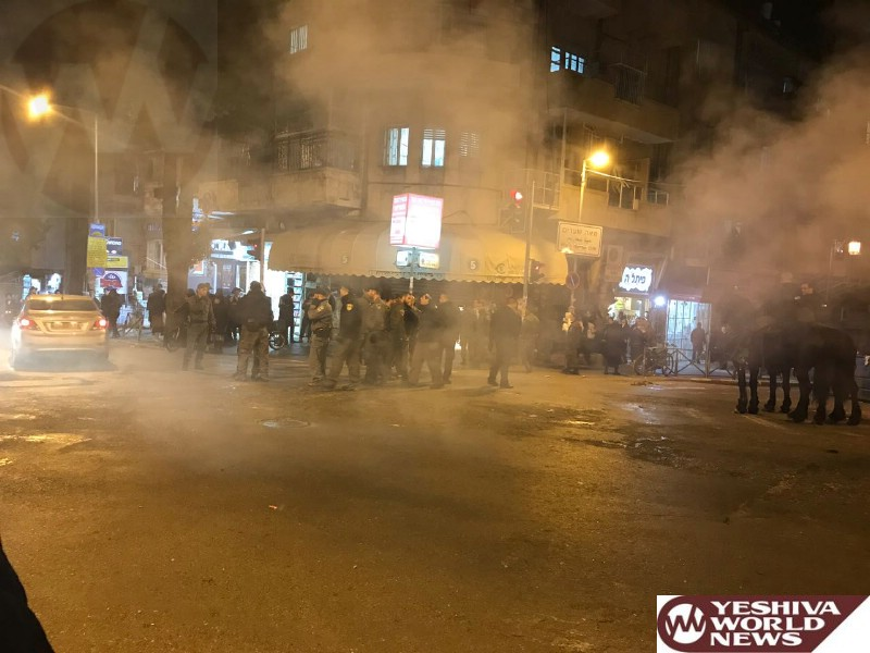 VIDEO/PHOTOS: Chareidi Rioting Continue For Another Night In Jerusalem And Beit Shemesh