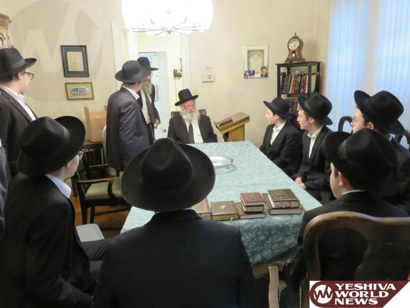 Photo Essay: Hagaon HaRav Berel Povarsky, Rosh Yeshivas Ponevez, Farhering Talmidim Of Yeshiva Mir Flatbush (Photos by JDN)
