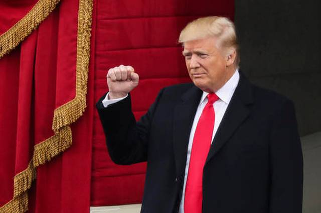 Trump at Capitol, Poised to Take Historic Oath