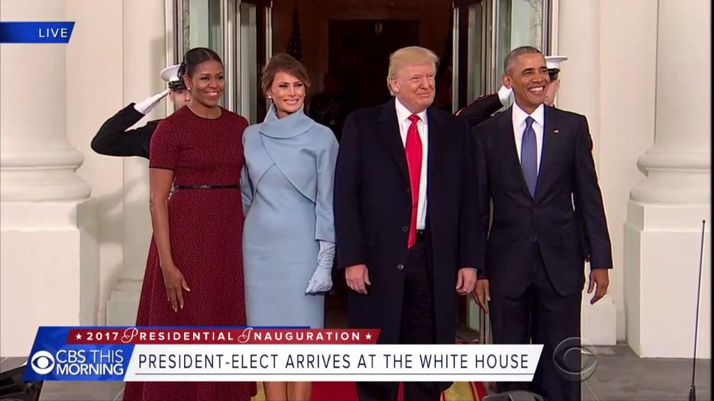 WATCH: The Obamas Greet The Trumps At The White House