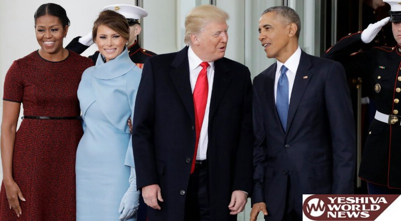 Trump's Big Day Underway: Tea With Obamas, Then the Oath