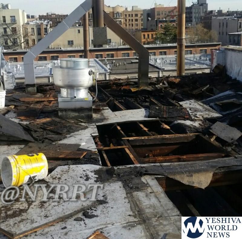 PHOTOS: Fire Causes Heavy Damage At Satmar Matzah Bakery In