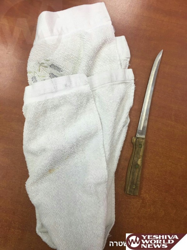 Police Apprehend A Man Walking Around With A Large Knife In Bnei Brak