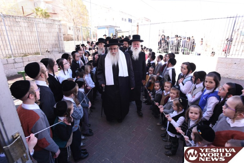 Photo Essay: Sanz Rebbe Visiting Mosdos Sanz In Yerushalayim (Photos by JDN)