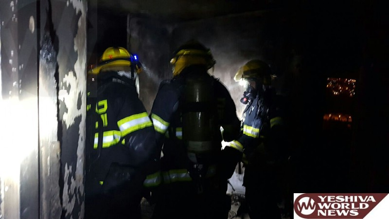 PHOTOS: Fire Department Probing The Ramot Apartment Fire Which Left One Person Seriously Injured On Motzei Shabbos