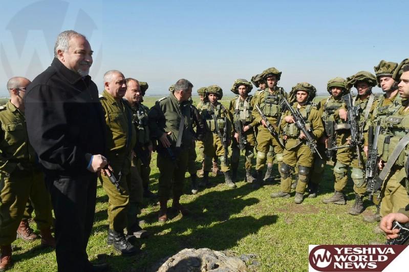 PHOTOS: Defense Minister Lieberman Visits N. Command Escorted By IDF Chief Eizenkott