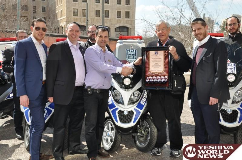PHOTOS: Zaka Welcomes New Two-Wheeled Response Vehicles