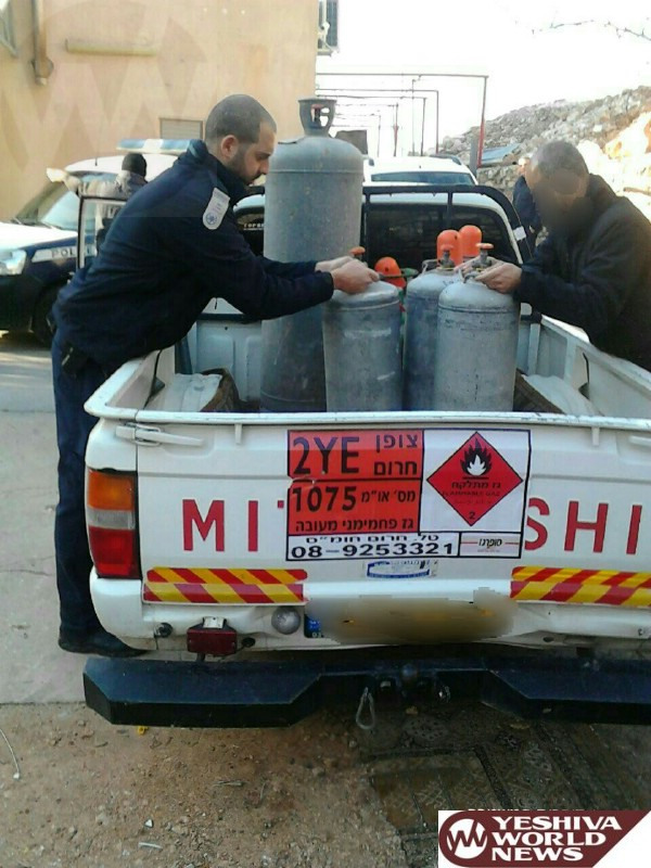 PHOTOS: Israel: Police Nab Another Pirate Gas Operation