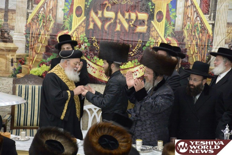 Photo Essay: Sheva Brachos In The Courts Of Premishlan And Biala Bnei Brak (Photos by JDN)