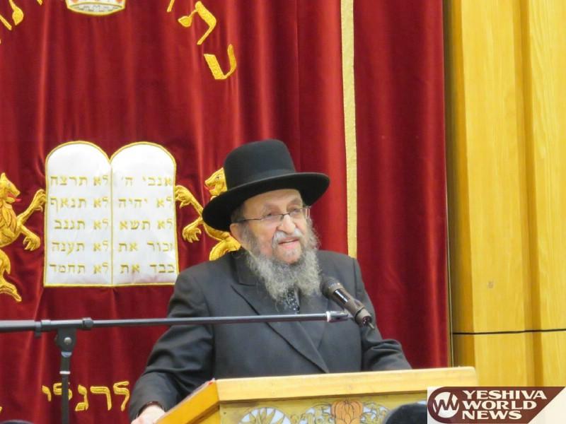 Photo Essay: Hagaon HaRav Shmuel Kaminetzky Rosh Yeshiva Philadelphia Visiting Yeshivas Shaarei Torah In Manchester (Photos by JDN)