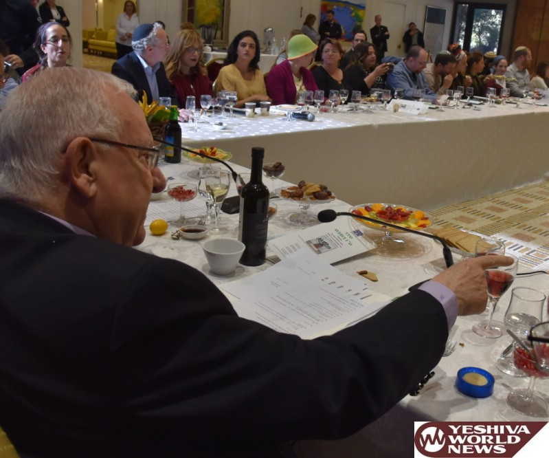 President Rivlin at table with OneFamily seated