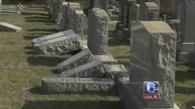 Dozens Of Headstones Damaged At Philadelphia Jewish Cemetery