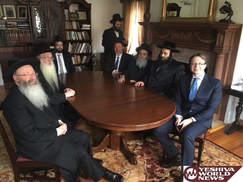 Jewish Leaders, Lithuanian Ambassador To U.S., Meet To Discuss Ancient Vilnius Jewish Cemetery