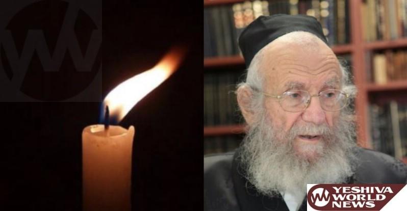 Baruch Dayan HaEmmes: HaGaon HaRav Yaakov Edelstein ZATZAL