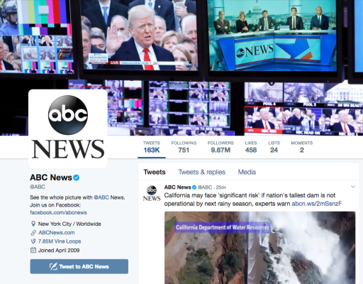 ABC News Says 3 Of Its Twitter Accounts Were Hacked