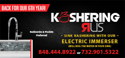 'Kashering R Us' Back for their 7th Year, Serving NY, NJ, And Baltimore