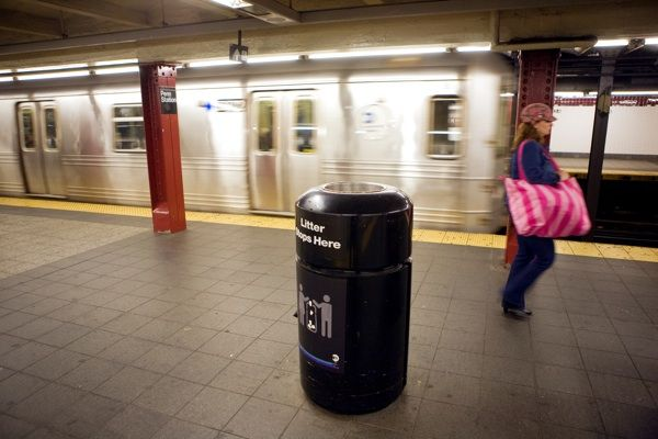 MTA Bags Experiment Of Removing Trash Cans From Platforms