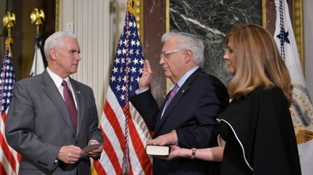 Friedman Sworn In As US Ambassador To Israel