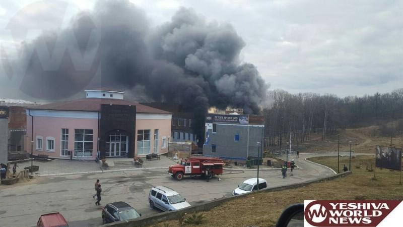 PHOTOS: Fire In Hachnasas Orchim Building Near The Tziyun Of The Bal HaTanya