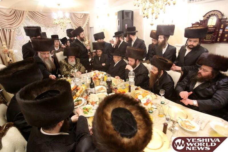 Photo Essay: The Visnitzer Rebbe On Motzei Shabbos In Beitar (Photos by JDN)